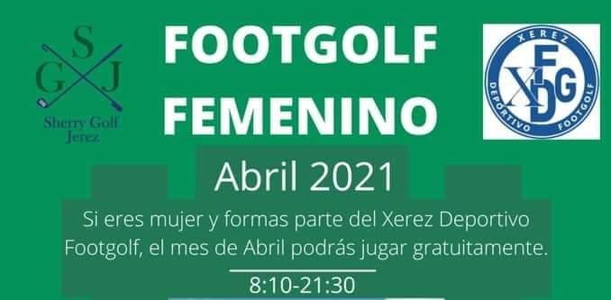 Footgolf femenino gratuito durante el mes de abril en Sherry Golf