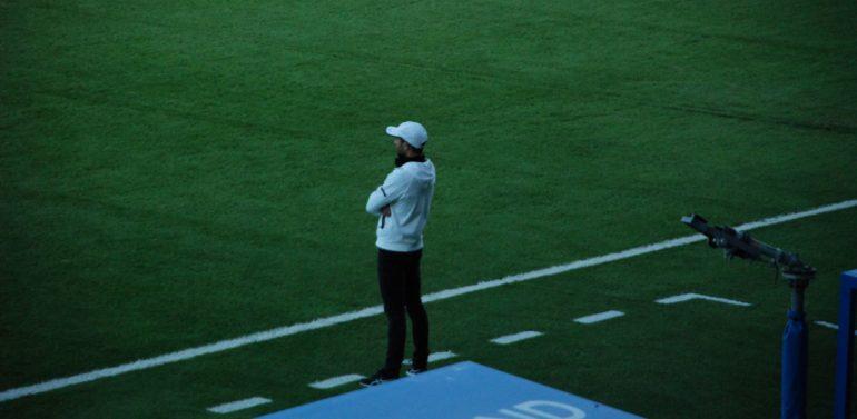 """Dimas Carrasco, entrenador del Ciudad de Lucena, tras la derrota frente al Xerez DFC: """"Quizás el empate hubiera sido lo más justo"""""""