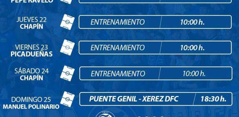 El Xerez DFC tendrá cuatro sesiones antes de su regreso competitivo