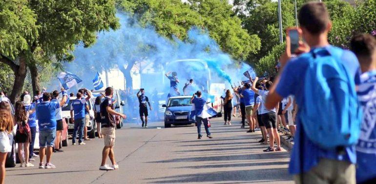 El Kolectivo Sur organiza una caravana azulina de despedida al Xerez DFC para el domingo