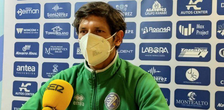 """Pablo Sánchez analiza la situación del Xerez DFC con el partido del domingo en el aire: """"Si al final la RFAF decide que tenemos que jugar, jugaremos, pero lo haríamos mermados"""""""