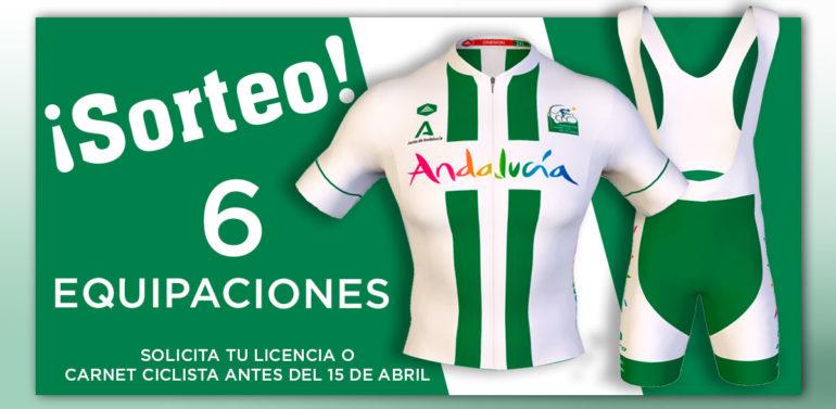 La Federación Andaluza de Ciclismo sortea 6 equipaciones oficiales