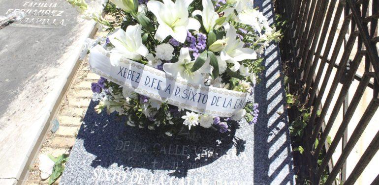 El Xerez Deportivo FC realizará una ofrenda floral por el aniversario del fallecimiento de Don Sixto de la Calle