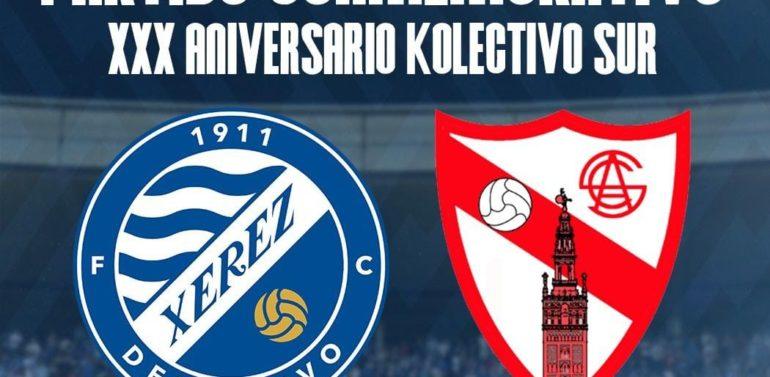 El amistoso entre Xerez DFC y Sevilla Atlético será conmemorativo por el XXX aniversario del Kolectivo Sur