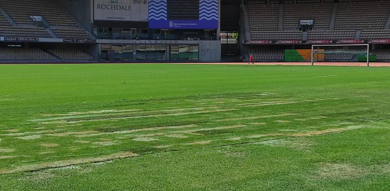Así está el césped de Chapín a un día del Xerez DFC vs Real Madrid Castilla