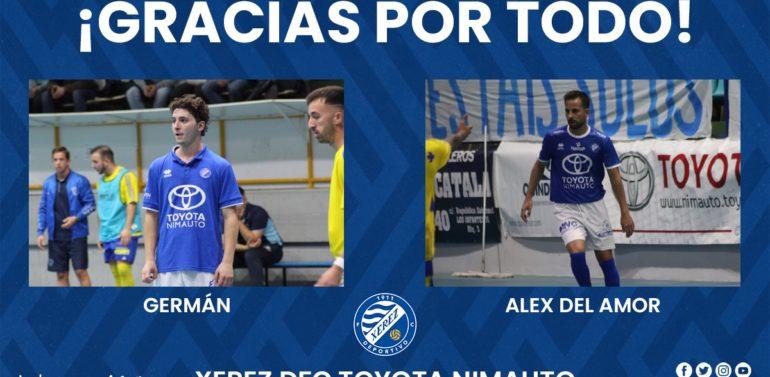 Germán y Álex del Amor, ex jugadores del Xerez Futsal, se marchan al Cádiz Virgili