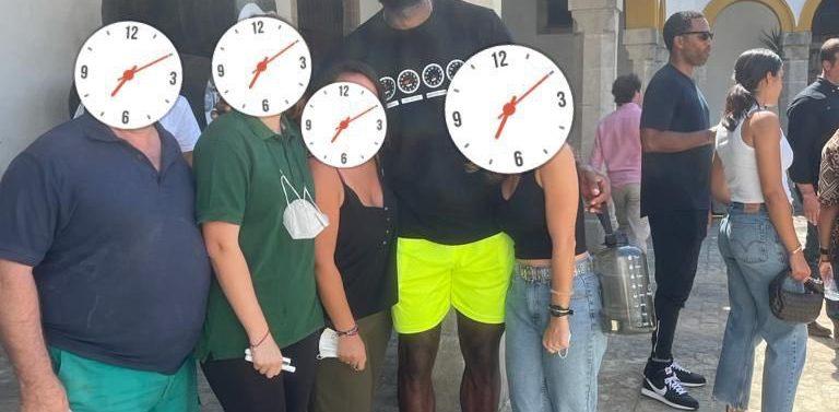 La estrella de la NBA, Lebron James, de turismo por Jerez