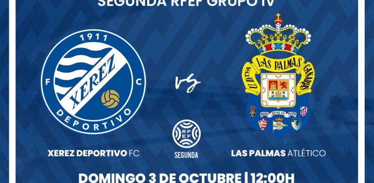 El Xerez Deportivo recibirá a Las Palmas Atlético en Chapín el domingo 3 de octubre a las 12:00