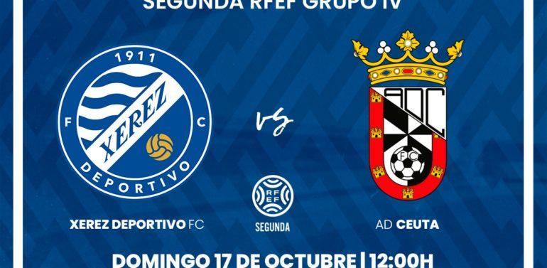 El Xerez Deportivo FC recibirá al Ceuta el domingo 17 de octubre a las 12:00